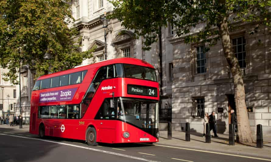 A Routemaster bus in London.