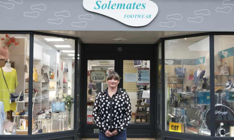 Tracey Lidster, owner of Solemates Footwear on Queen Street, Ripon.