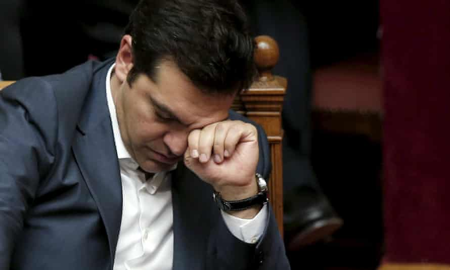 Greek PM Alexis Tsipras during a parliamentary session in Athens.