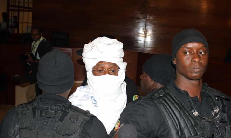 Hissène Habré pictured in court in Dakar on 20 July.