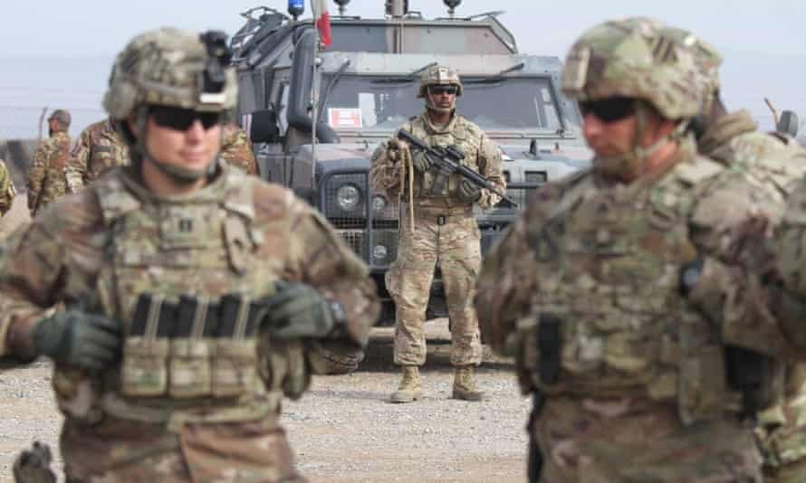 US soldiers, deployed to train Afghan forces, in Herat.