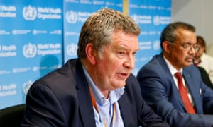 Executive Director of the World Health Organization's emergencies program Dr Mike Ryan speaks at a news conference in Geneva.