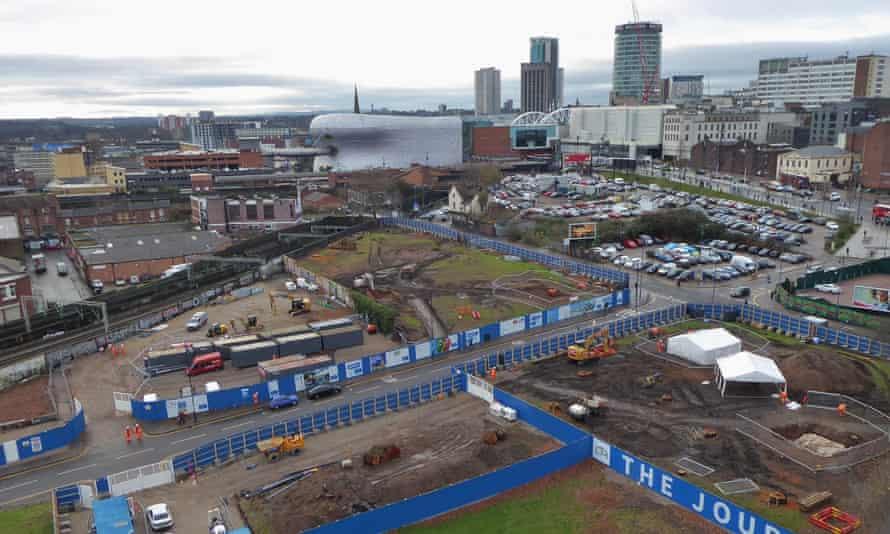 HS2 site in Birmingham