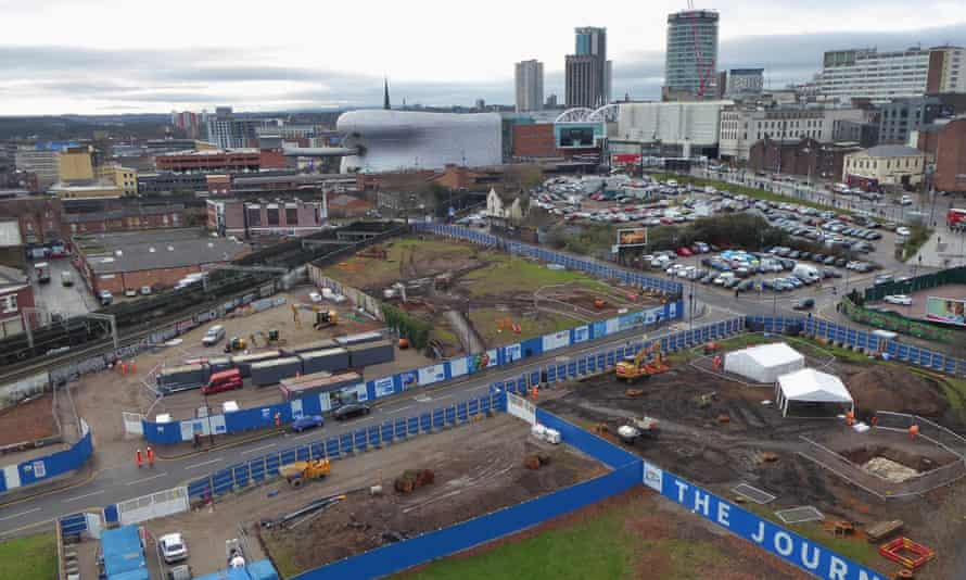 HS2 Curzon Street archaeological investigations in Birmingham.