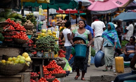 A market in Lagos.