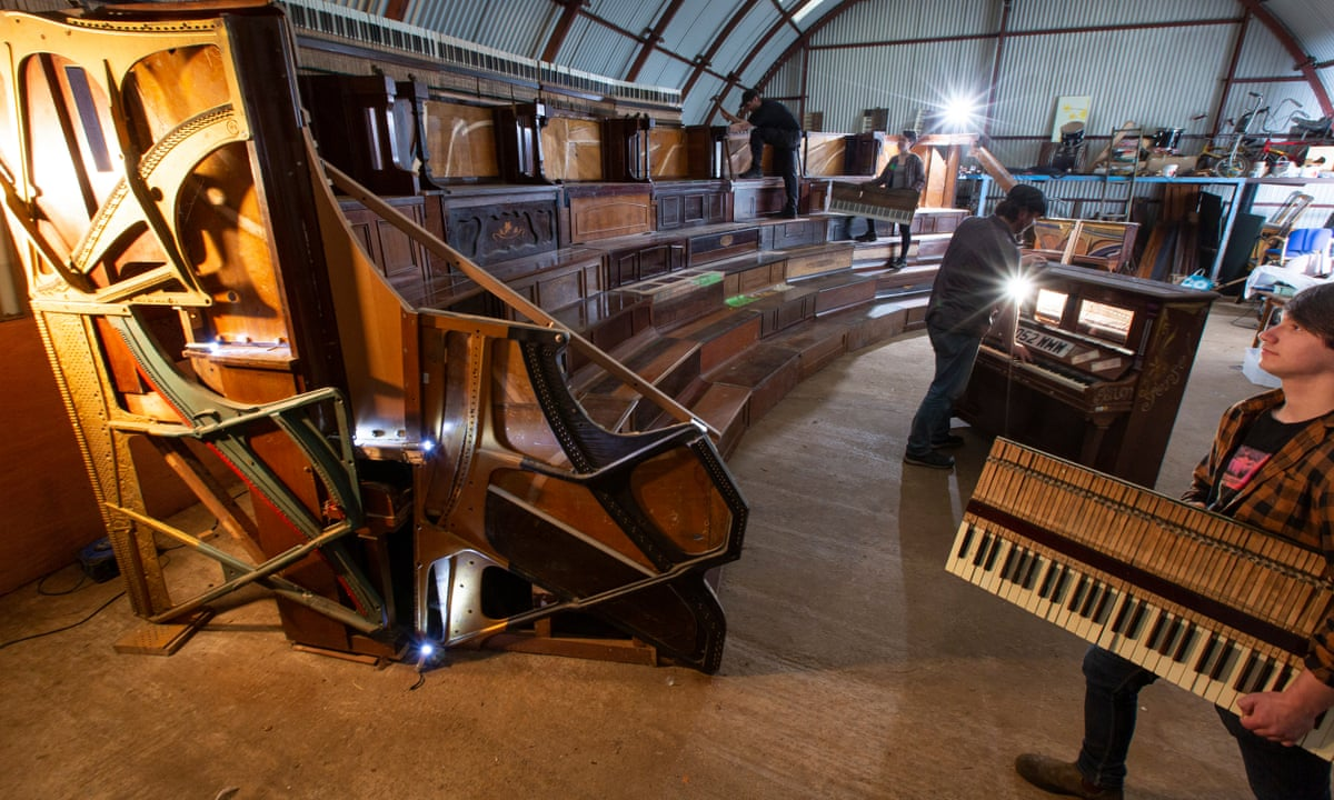 New Glasgow theatre space made entirely of recycled pianos in UK ...
