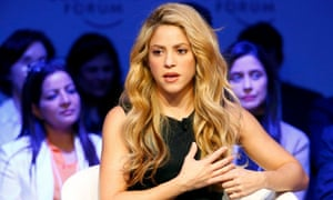 Shakira attends the annual meeting of the World Economic Forum in Davos in January 2017.