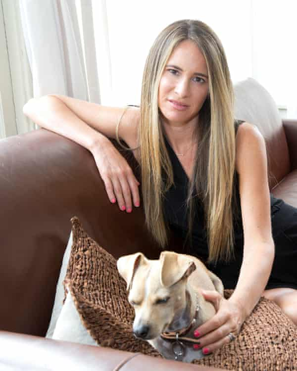 Melissa Broder with her dog at her home in Venice California. Her So Sad Today persona has a cat instead.