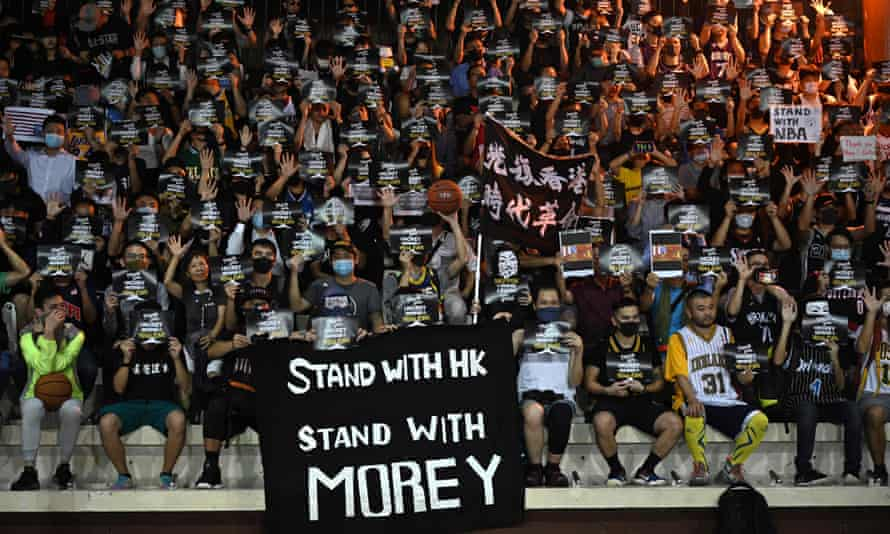 The Houston Rockets general manager, Daryl Morey, was thanked by Hong Kong protesters for his support but the Chinese government responded by trying to have him sacked.