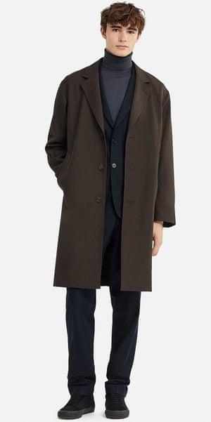 Uniqlo U brown Chesterfield coat, £129.90.
