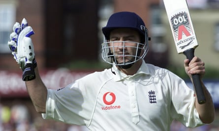 Karl Power comes out to bat during an England v Australia test match at Headingley in 2001.