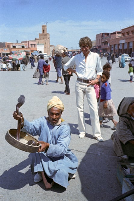 W Magazine 1972French fashion designer Yves Saint Laurent in Morocco wearing flares, W Magazine, 1972.