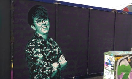 A mural of late journalist Lyra McKee in Belfast city centre.