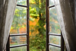 Autumn WindowWindow was wide open.