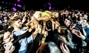 'Not without a vaccine' … crowd-surfing may never return.