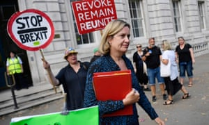 Amber Rudd arriving at the Cabinet Office for a meeting earlier.