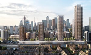 The proposed development in east London