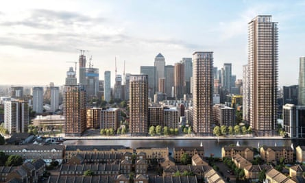 The proposed Westferry Printworks development in east London