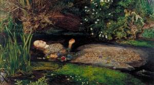 Ophelia by John Everett Millais, 1851-52.