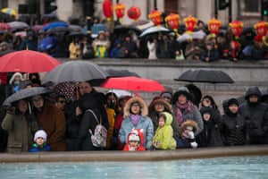 Spectators at Chinese new year celebrations