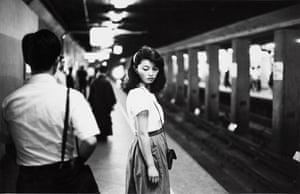 Ed van der Elsken, Girl in metro, Tokyo, 1981.