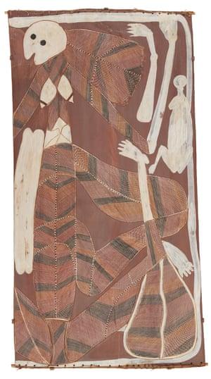 Yawkyawk. 1985. Natural pigments on bark.