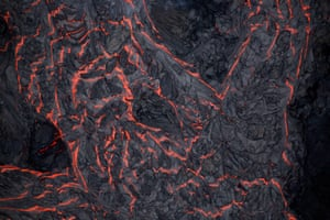 Hawaii Lava flows on the outskirts of Pahoa during the eruptions of the Kilauea volcano.