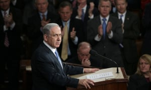 The Israeli prime minister was received like a president about to give the State of the Union.
