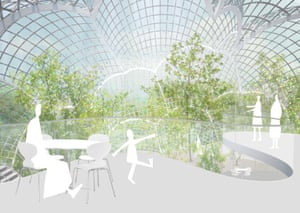 Extra wow … Sanaa's bubble hothouse design with ultra-thin glass.