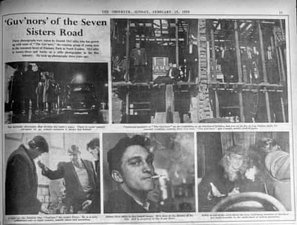 Page 11 of the Observer from 15 February 1959, featuring Don McCullin's first published photographs.