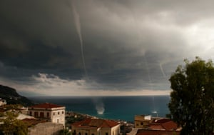 Waterspouts in Cetraro, Italy