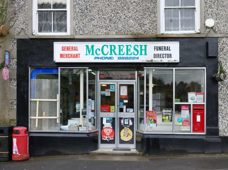 McCreesh general merchant and funeral directors, Forkhill. South Armagh, Northern Ireland 2017.