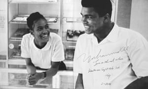 Ali and second wife Khalilah Ali.