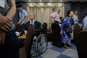 Dozens of elderly South Koreans gathered on the eve of their first meeting with family members in the North in nearly seven decades.