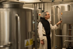 Father Joseph in the brewery