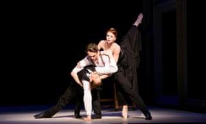 'Notionally erotic': (from top) Natalia Osipova, Matthew Ball and Edward Watson in Strapless.