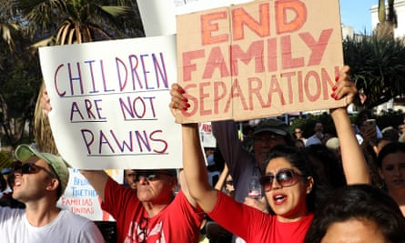 Protest against immigrant family separations in Los Angeles in June 2018.