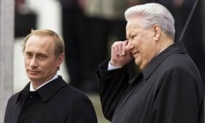 Putin and Yeltsin