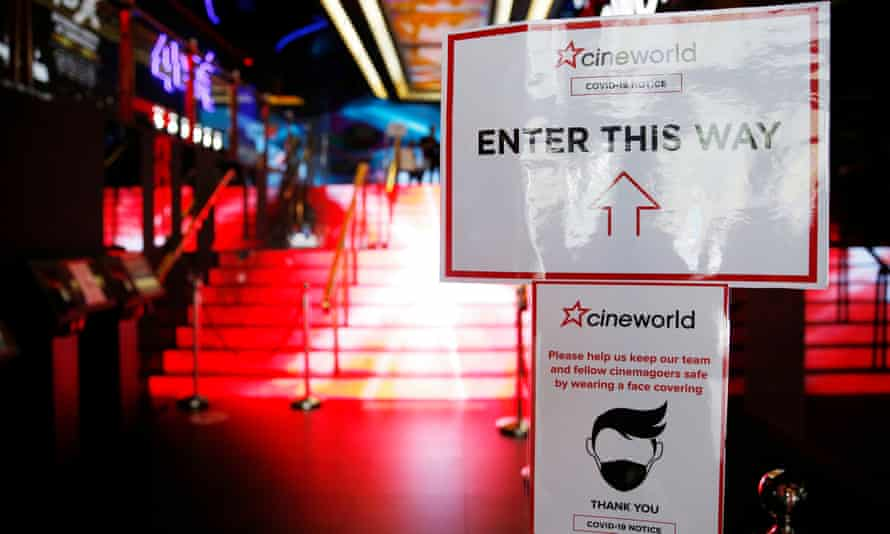 Notices at a Cineworld cinema