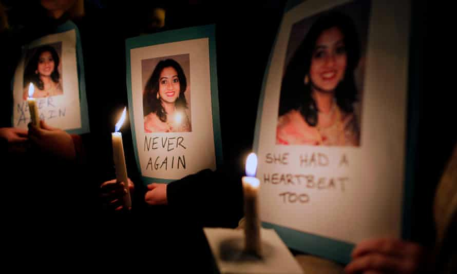 Thousands took part in candlelit vigils and protests following Savita Halappanavar's death in 2012.