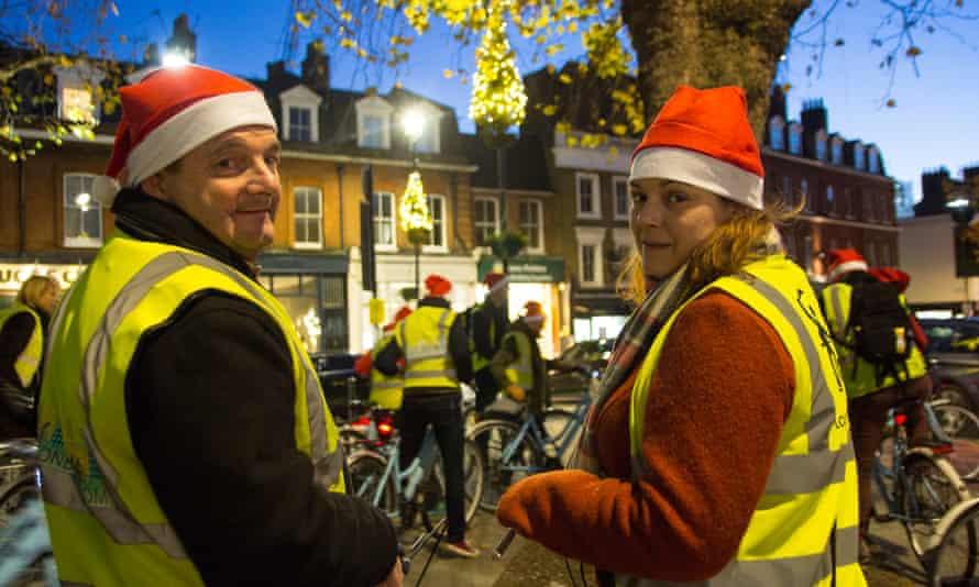Christmas lights bike tour, West End