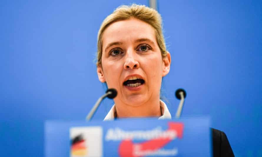 Alternative for Germany leader Alice Weidel.