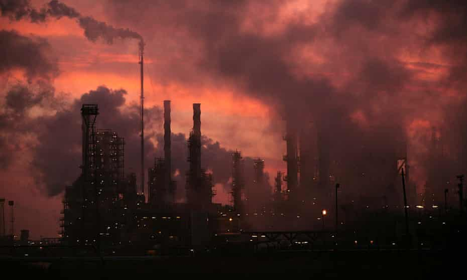 The sun rises over Lindsey oil refinery in North Lincolnshire