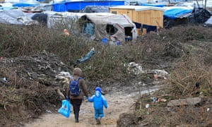 The Calais 'jungle', which was demolished nearly four weeks ago.
