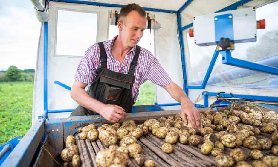Nigel Adams on his farm near Enville, Staffordshire