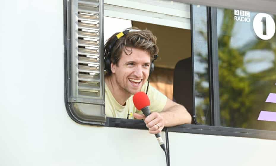 Greg James trapped in his campervan last week.