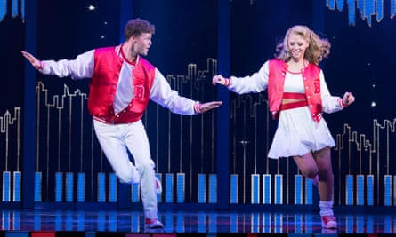 Playful attitude … Jay McGuiness and Kimberley Walsh in Big: The Musical at the Dominion theatre, London.