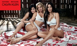 Calvin Klein campaign featuring the Kardashian/Jenner sisters.