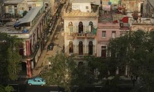 Few cars ply the roads in Havana.