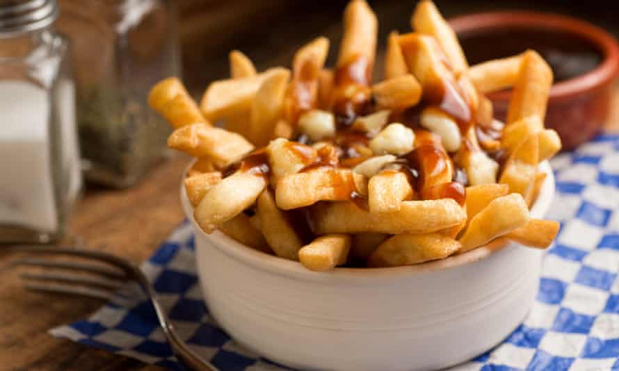 Classic poutine, with chips, gravy and cheese curd.